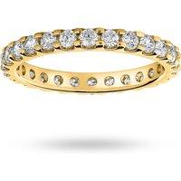 18 Carat Yellow Gold 1.00 Carat Brilliant Cut Claw Set Full Eternity Ring - Ring Size O