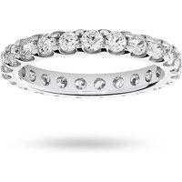 18 Carat White Gold 1.50 Carat Brilliant Cut Claw Set Full Eternity Ring - Ring Size L.5
