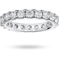 18 Carat White Gold 2.00 Carat Brilliant Cut Claw Set Full Eternity Ring - Ring Size M.5