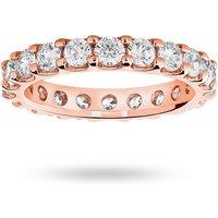 9 Carat Rose Gold 2.00 Carat Brilliant Cut Claw Set Full Eternity Ring - Ring Size K.5