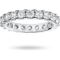 9 Carat White Gold 2.00 Carat Brilliant Cut Claw Set Full Eternity Ring - Ring Size P
