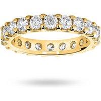 9 Carat Yellow Gold 2.00 Carat Brilliant Cut Claw Set Full Eternity Ring - Ring Size T