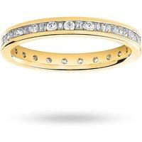 9 Carat Yellow Gold 0.50 Carat Dot Dash Channel Set Full Eternity Ring - Ring Size K