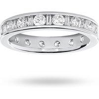 18 Carat White Gold 1.50 Carat Dot Dash Channel Set Full Eternity Ring - Ring Size N