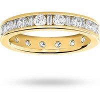 18 Carat Yellow Gold 1.50 Carat Dot Dash Channel Set Full Eternity Ring - Ring Size N