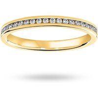 18 Carat Yellow Gold 0.33 Carat Brilliant Cut Channel Set Full Eternity Ring - Ring Size K