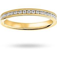18 Carat Yellow Gold 0.50 Carat Brilliant Cut Channel Set Full Eternity Ring - Ring Size Y.5