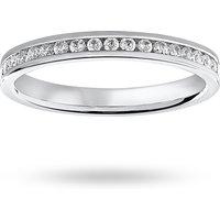 9 Carat White Gold 0.50 Carat Brilliant Cut Channel Set Full Eternity Ring - Ring Size M