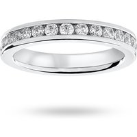 9 Carat White Gold 1.00 Carat Brilliant Cut Channel Set Full Eternity Ring - Ring Size P