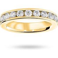 9 Carat Yellow Gold 2.00 Carat Brilliant Cut Channel Set Full Eternity Ring - Ring Size W.5