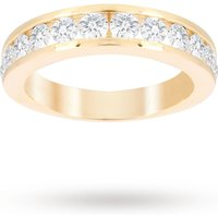 Brilliant Cut 1.00ct Channel Set Half Eternity Ring In 9ct Yellow Gold - Ring Size N