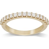 9ct Yellow Gold Claw Set 0.33cttw Graduated Ring - Ring Size I.
