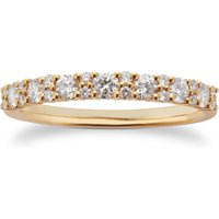 9ct Yellow Gold 0.50ct Cluster Eternity Rings - Ring Size L