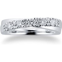 18ct White Gold 0.50cttw Single Cross Over Eternity Ring