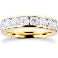18ct Yellow Gold 1.50ct Brilliant Cut Goldsmiths Brightest Diamond Eternity Ring - Ring Size P.