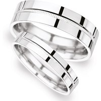 5mm Traditional Court Heavy Milgrain Centre Wedding Ring In 18 Carat White Gold - Ring Size R