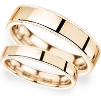6mm Traditional Court Standard Milgrain Edge Wedding Ring In 18 Carat Rose Gold - Ring Size T