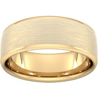 8mm Traditional Court Standard Matt Finished Wedding Ring In 18 Carat Yellow Gold - Ring Size Q