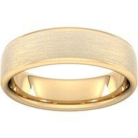 6mm Slight Court Heavy Matt Finished Wedding Ring In 18 Carat Yellow Gold - Ring Size T