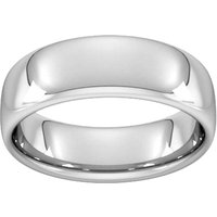 7mm Slight Court Heavy Wedding Ring In Sterling Silver - Ring Size S