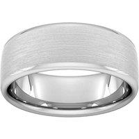 8mm Slight Court Heavy Matt Finished Wedding Ring In Platinum - Ring Size Q