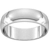 6mm D Shape Standard Wedding Ring In 950 Palladium