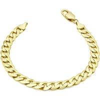 9ct Yellow Gold 7mm 20cm Curb Chain Bracelet
