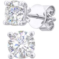 18ct White Gold 1.00cttw Diamond 4 Claw Stud Earrings.