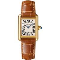 Tank Louis Cartier Watch Small Model, Quartz Movement, Yellow Gold, Leather