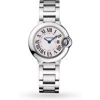 Ballon Bleu De Cartier Watch 28mm, Quartz Movement, Steel
