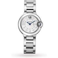 Ballon Bleu De Cartier Watch 28mm, Quartz Movement, Steel, Diamonds