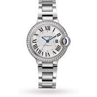 Ballon Bleu De Cartier Watch 33mm, Automatic Movement, Steel, Diamonds