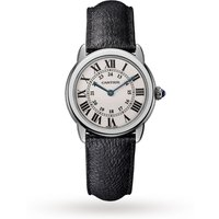 Ronde Solo De Cartier Watch 29mm, Quartz Movement, Steel, Leather