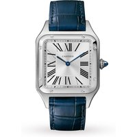 Santos-Dumont Watch Large Model, Quartz Movement, Steel, Leather