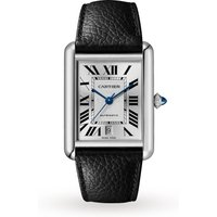 Tank Must de Cartier, Extra-large model, automatic movement, steel, leather