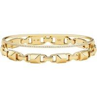 Mercer Link 14ct Yellow Gold Plated Hinged Bangle Size Medium