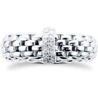 18ct White Gold Vendome FlexIt 0.10ct Diamond Ring - Ring Size Medium