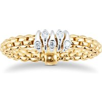 18ct Yellow Gold Flexit Prima Ring - Ring Size J