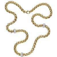 18ct Yellow and White Gold Flexit Necklace