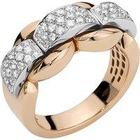18ct Rose and White Gold Nova Ring
