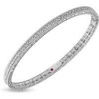 Symphony 18ct White Gold 0.61 Total Carat Weight Diamond Bangle