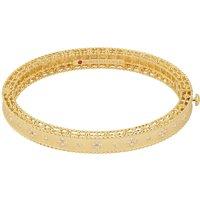 Venetian Princess 18ct Yellow Gold and Diamond Bangle