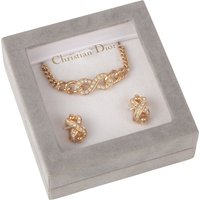Exclusive Susan Caplan Vintage Christian Dior Gold Plated Crystal Jewellery Set