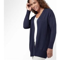 Womens Cashmere and Cotton Edge to Edge Cardigan XL Classic Navy