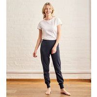 Womens Cashmere and Cotton Lounge Pants M Classic Navy