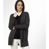 Womens Cashmere and Cotton Edge to Edge Cardigan L Charcoal