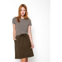 Womens Linen and Cotton Skirt XL Khaki