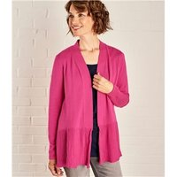 Womens Edge to Edge Pleat Cardigan XL Bright Rose