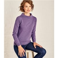 Womens Jackie Roll Neck XS Lavender Marl