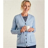 Womens Lambswool V Neck Cardigan M Pale Blue